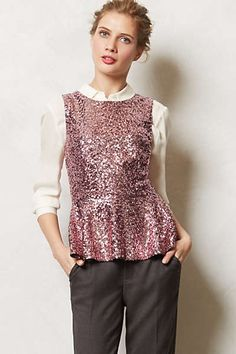 Anthropologie - Illuminee Peplum Top