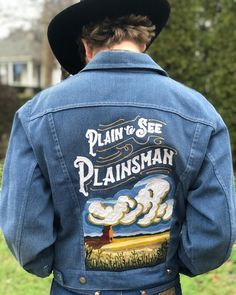 This is a big ol thank you to for commissioning a jacket for , Men's Outerwear, Folk Music, Chain Stitch, Create, Big, Jackets, Instagram, Fashion, Down Jackets