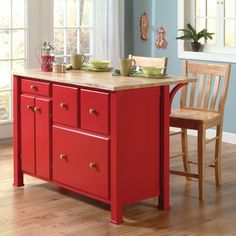 499B Kitchen IslandShown in Red PepperS-6162B  John Thomas Furniture