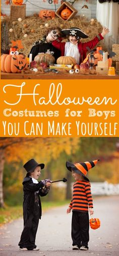 A list of Halloween Costumes for Boys that are super easy to DIY! Boys will love these Halloween Costumes that are easy to make! List Of Halloween Costumes, Handmade Halloween Costumes, Easy Diy Costumes, Family Costumes, Boy Costumes, Baby Halloween, Zombie Costumes, Halloween Couples, Group Halloween