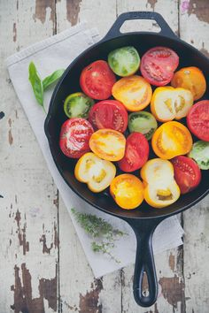 Cast iron skillet tomato tart tatin | Nothing but Delicious