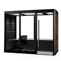 Spacio Grand MiniPod With Black Frame Office Cubicle Design, Office Pods, Crate Shelves, Sound Proofing, Home Office, Office Cubicles, Dress Styles, Architecture, Interior Ideas