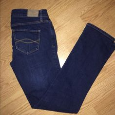 Abercrombie & Fitch skinny jeans size 4s like new Size 4 short skinny jeans. No tears or stains. Perfect blue color to me. It's a nice deep blue. #abercrombie&fitch Abercrombie & Fitch Jeans Skinny