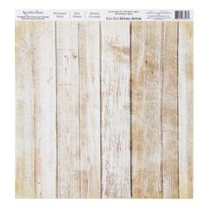 Create rustic scrapbook layouts and papercrafts with this printed paper. Featuring a whitewashed wood print, this sheet can be used whole or clipped to provide color and dimensional details to cards, mixed media art and other paper crafting projects.