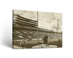 Northwestern Wildcats Canvas Wall Art Sketch Design | MadeLoyal