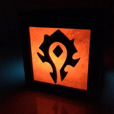 World of Warcraft Horde & Alliance light box by BurntPixels, $17.00