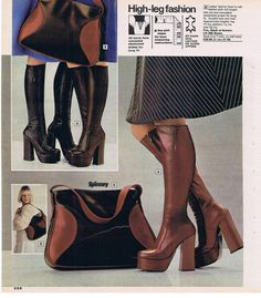 freemans catalogue from the I had a pair of black boots just like these Seventies Fashion, 70s Fashion, Fashion History, Vintage Fashion, Vintage Boots, Vintage Outfits, Sexy Boots, Black Boots, 1970s Looks