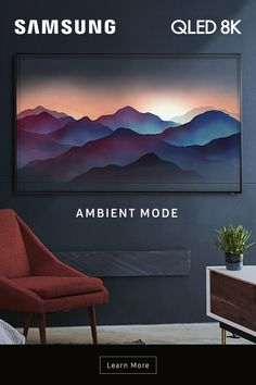 When you're not using it, Ambient Mode on the QLED TV can be used to fill your home with art and family photos, display helpful information like the weather or even blend in with the wall. House Inside, My House, 8k Tv, Skull Furniture, Clear Aligners, Home And Living, Living Room, Samsung Mobile, Nsx