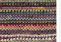 CLUBE DAS CROCHETEIRAS: cachecol de crochê colorido 1