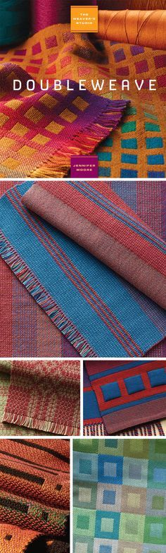 """""""Doubleweave is the weaving of two layers of cloth, on a loom, one above each other at the same time,"""" defined by instructor Jennifer Moore. Watch this video tutorial series that accompanies her stellar eBook, The Weaver's Studio: Doubleweave."""