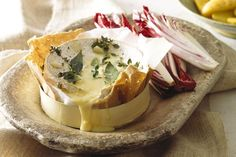 Baked Garlic + Thyme Brie