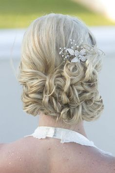 Wedding updo. Wedding hair.