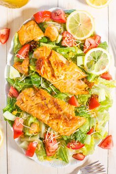 Honey Lemon-Glazed Salmon Salad