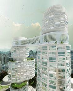 Velo Towers by Asymptote Architecture |  Yongsan ( 용산구 ) International Business District, Seoul ( 서울 ), South Korea ( 대한민국 )