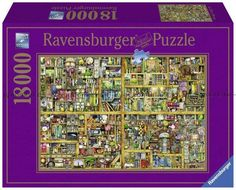 Ravensburger Magical Bookcase Piece Jigsaw Puzzle for Adults – Softclick Technology Means Pieces Fit Together Perfectly Ravensburger Puzzle, Illustrator, 300 Piece Puzzles, Puzzle Shop, Free Puzzle, Thick Cardboard, Shops, Assemblage, Bookcase