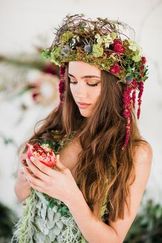 organic wedding headdress