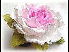 МК Простой способ изготовления розы из фоамирана с плоским основанием. - YouTube