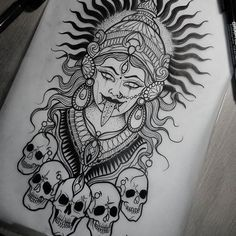 I genuinely adore the color styles, outlines, and fine detail. This is definitely the perfect idea if you are looking for a old school frases hombres hombres brazo ideas impresionantes japoneses pequeños tattoo Hindu Tattoos, Body Art Tattoos, Sleeve Tattoos, Arm Tattoos, Tattoos Skull, Symbol Tattoos, Kali Tattoo, Ganesha Tattoo, Tattoo Sketches