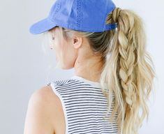 """New video landed early this week on hairstyles for hats!! Wear them to work  out or to the game you re (probably) heading to…"""" 0ec9b9f714a6"""