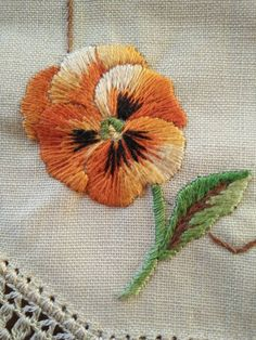 Charming Tangerine Pansy ~ Hand embroidered Vintage Doily FOR SALE • AUD 15.00 • See Photos! Money Back Guarantee. Track Page Views WithAuctiva's FREE Counter 322688921144