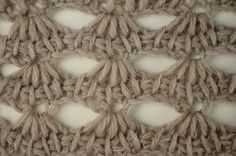My Tunisian Crochet: Tunisian Scallop Lace Pattern
