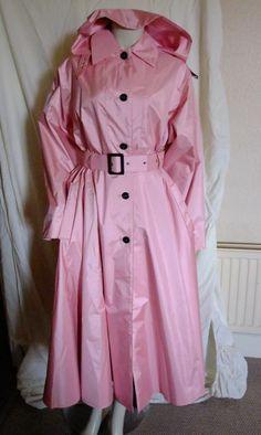 Rubber Raincoat Rubberised Pink Audrey Lakeland