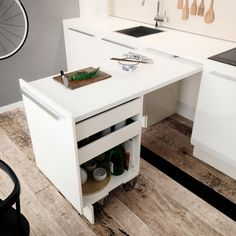 44 best small kitchen design ideas for your tiny space 28 Small Kitchen Remodel Design Ideas Kitchen Small Space Tiny Kitchen Table Small Space, Mini Kitchen, Small Space Living, New Kitchen, Kitchen Ideas, Kitchen Small, Loft Kitchen, Living Spaces, Counter Space