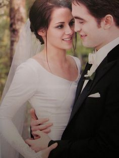 Edward And Bella at Wedding by AvaBloom.deviantart.com on @deviantART