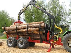 Farmi Forest Profdrive12-4wd.  A professional forwarding trailer.  Accepts Farmi Log Loaders up to 8,100 lb lifting capacity.  Trailer has 13 ton capacity.  Other models available from 7.7 ton trailers and 2,600 lb loaders.  Quality forestry equipment and forestry products.  Rugged Equipment.
