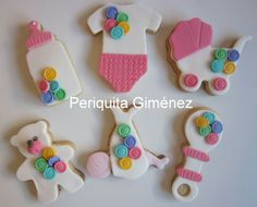 Baby cookies decorated