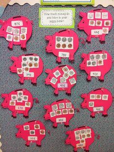 Bright Concepts 4 Teachers: Lesson Plans and Teaching Strategies: Money Talks and a Giveaway Winner Teaching Money, Teaching Math, Teaching Strategies, Primary Teaching, Teaching Ideas, Math Classroom, Kindergarten Math, Preschool Class, Classroom Displays