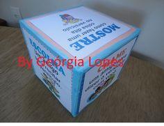 CUBO PARA MEMORIZAÇÃO DE VERSÍCULOS        MATERIAL:   - 9 caixas de leite (das que tem o fundo em forma de quadrado)  - Eva de cores sorti...