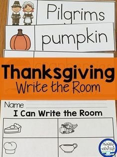Thanksgiving Write the Room and a FREEBIE!