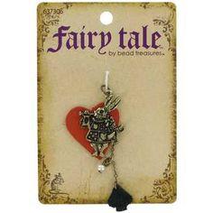 Antique Brass Queen of Hearts Rabbit Pendant