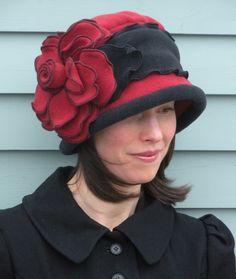 fleece cloche hat from etsy