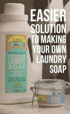 How to make your own laundry soap the easier, minimalist way! Just add water - the last laundry jug you'll ever need with refillable packets. Try out MyGreenFills for free and make a positive impact on our planet and your health! | laundry soap recipe diy idea | house