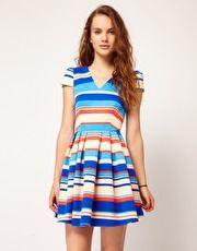 A Wear Color Block Shift Dress