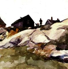 Cape Ann Artist- Rocks At Fort Gloucester by Edward Hopper