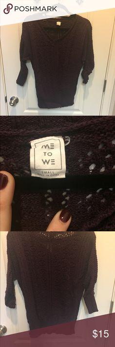 Purple sweater Worn one or twice Me to We Sweaters V-Necks