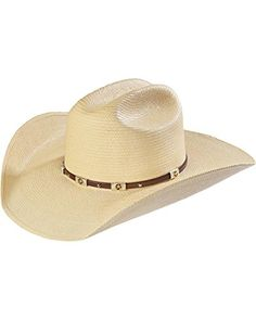 c37d7a88f30 Larry Mahan Men s Alamo Palm Star Concho Straw Cowboy Hat Natural 7 3 8    Check out the image by visiting the link.