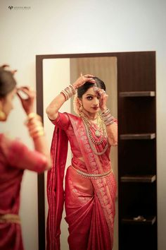 You can find the best wedding photographers, top wedding makeup artists, finest wedding decorators, top wedding planners, bridal stylists & affordable jewellery rentals Bridal Sarees South Indian, Indian Bridal Photos, Bridal Silk Saree, Indian Bridal Outfits, Indian Bridal Fashion, Saree Wedding, Bridal Hairstyle Indian Wedding, Indian Wedding Bride, Kerala Saree Blouse Designs