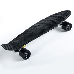 """Retro Cruiser Plastic Skateboard 22""""x 6"""" Available In Various Deck Colours And Wheel PU Wheel (Black): Amazon.co.uk: Sports & Outdoors"""