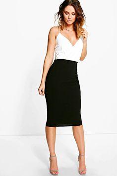 4dacc8a7aa233 boohoo.com Peplum Dress, Latest Dress, Dress Collection, Midi Skirt, Boohoo