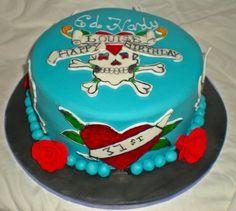 Ed Hardy birthday cake Cake by timefortiffin