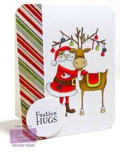 Crafter's Companion, Dana Warren, Nordic Christmas Santa's Helper Spectrum Noir: Blender Christmas Cards To Make, Xmas Cards, Nordic Christmas, Handmade Christmas, Crafters Companion, Winter Cards, Crafty Projects, Kraft Paper, Paper Piecing
