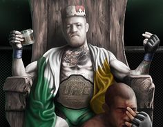 "Check out new work on my @Behance portfolio: ""A New Reign - Conor McGregor after…"