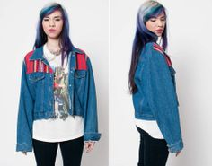Denim Jacket with Navajo Paneling by rumors on Etsy, $48.00