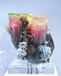Quartz, Tourmaline, Albite from Afghanistan