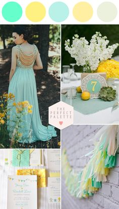 Mint and Yellow for Spring and Summer Weddings - www.theperfectpalette.com - Color Ideas for Weddings + Parties