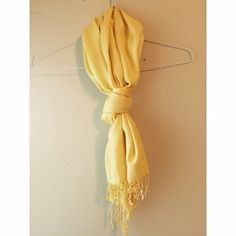 Women's Pashmina This vibrant yellow pashmina is perfect for spring and summer. The bright yellow would go great with any outfit! It is in excellent condition, never worn. Tags off. Accessories Scarves & Wraps